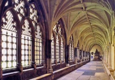 Cloister of Westminster Abbey - inside