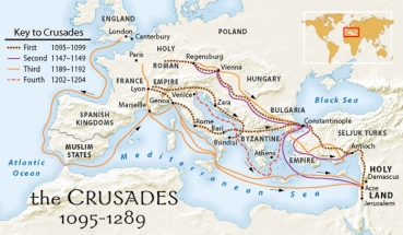 Map of Crusades