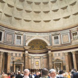 Christian symbols in the Pantheon