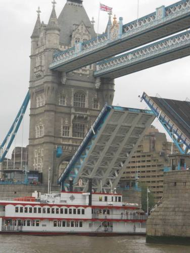 Tower Bridge opening for boat pass