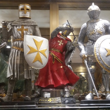 The Knights of Malta with famous cross of