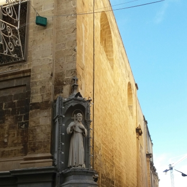 Christianity presence on the architecture of Valletta.