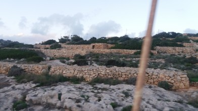 Stoned landscape of Malta.