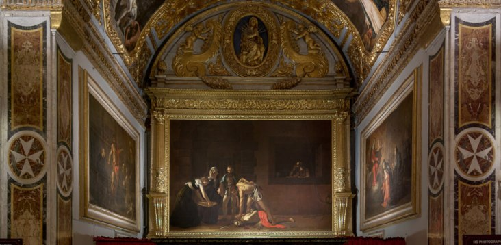 Caravaggios's painting of Beheading of St John