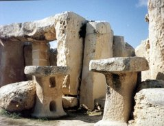 Massive standing stones of