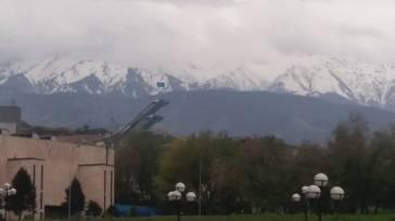 Tian Sian mountain with Ski jump