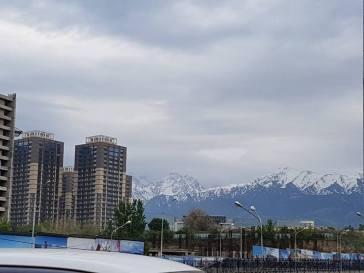Tian Sia mountain surrounding the city