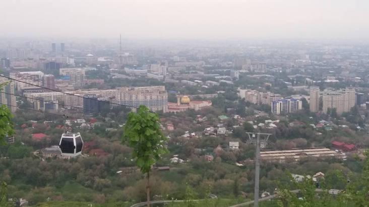 Panoramic view ot the Almaty