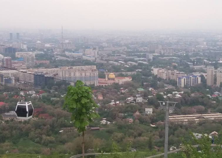 Panoramic view ot the Almaty