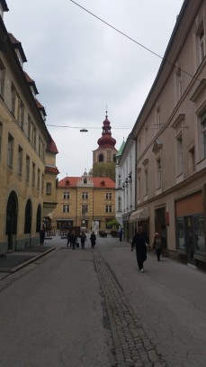 Approaching the main square in Ptuj