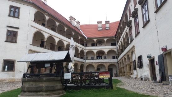Atrium of castle