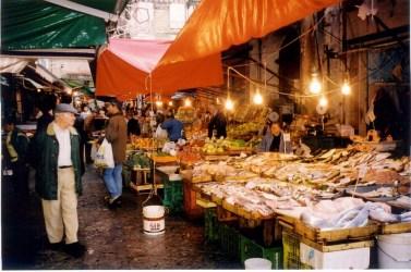 Market Vucciria, fish.
