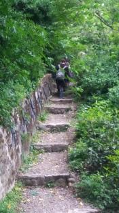 Rosemary path, pilgrims on their way to basilica