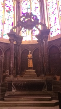Jeanne d'Arc statue in cathedral