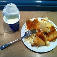 Burek with yoghurt